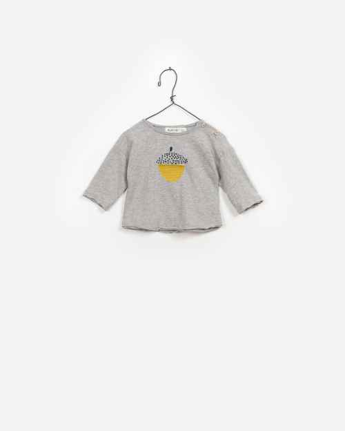 BeeBoo|BeeBoo PlayUp vêtements bébé baby clothes T Shirt LS Flame coton cotton gris grey