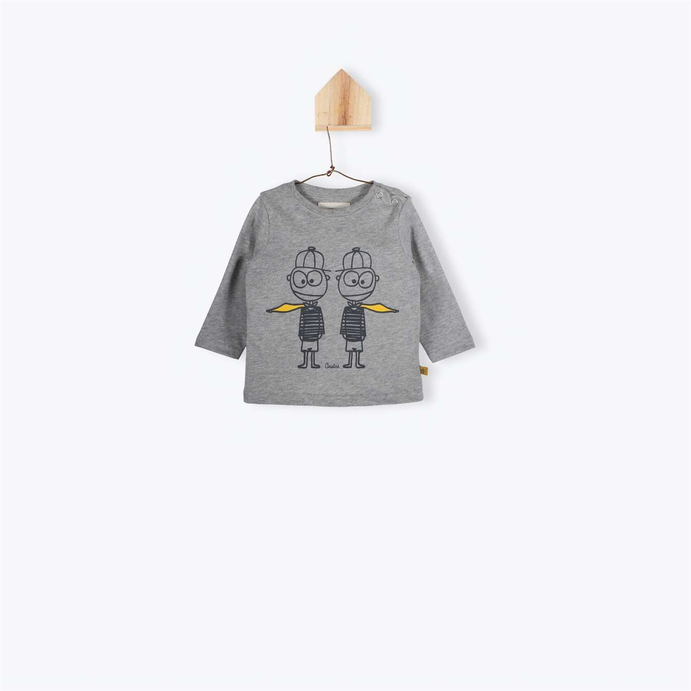 BeeBoo|BeeBoo Arsène et les pipelettes tee shirt twins Orelien gris