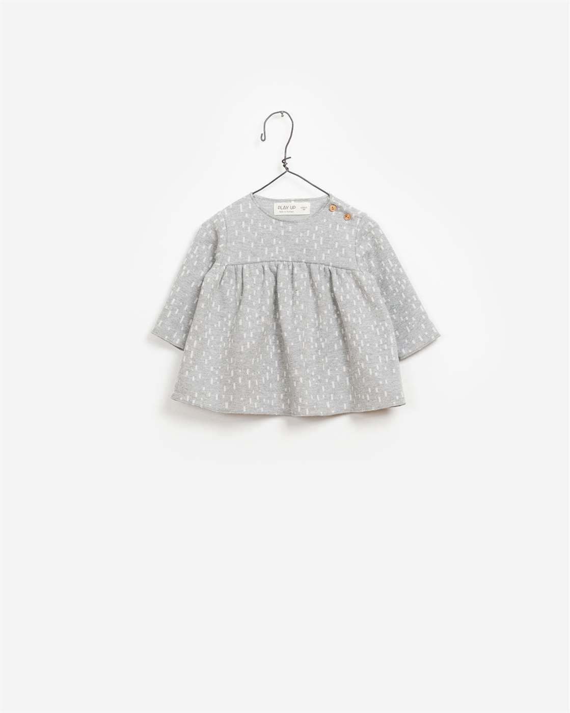 BeeBoo|BeeBoo PlayUp vêtement bébé baby cloth blouse Jacquard gris grey